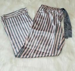 LARGE Victoria's Secret The Afterhours Pink Striped Satin Pa